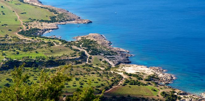 Panoramic view of Akamas Peninsula. Many Jeep safari tour in Paphos visit Akamas